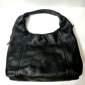 Kate Spade Black Pebbled Leather Hobo Purse